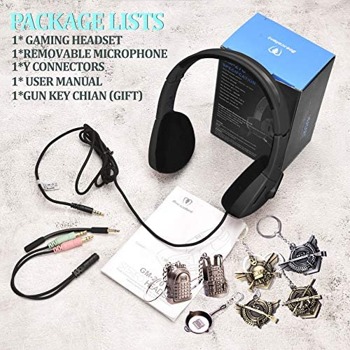 SVYHUOK PS4 Xbox Gaming Headset for Kids GIFS, Light Foldable On-Ear Headphone Eadphones with Detachable Mic for Telephone Chat, PC, PS4, New Xbox One Controller, Cellphones