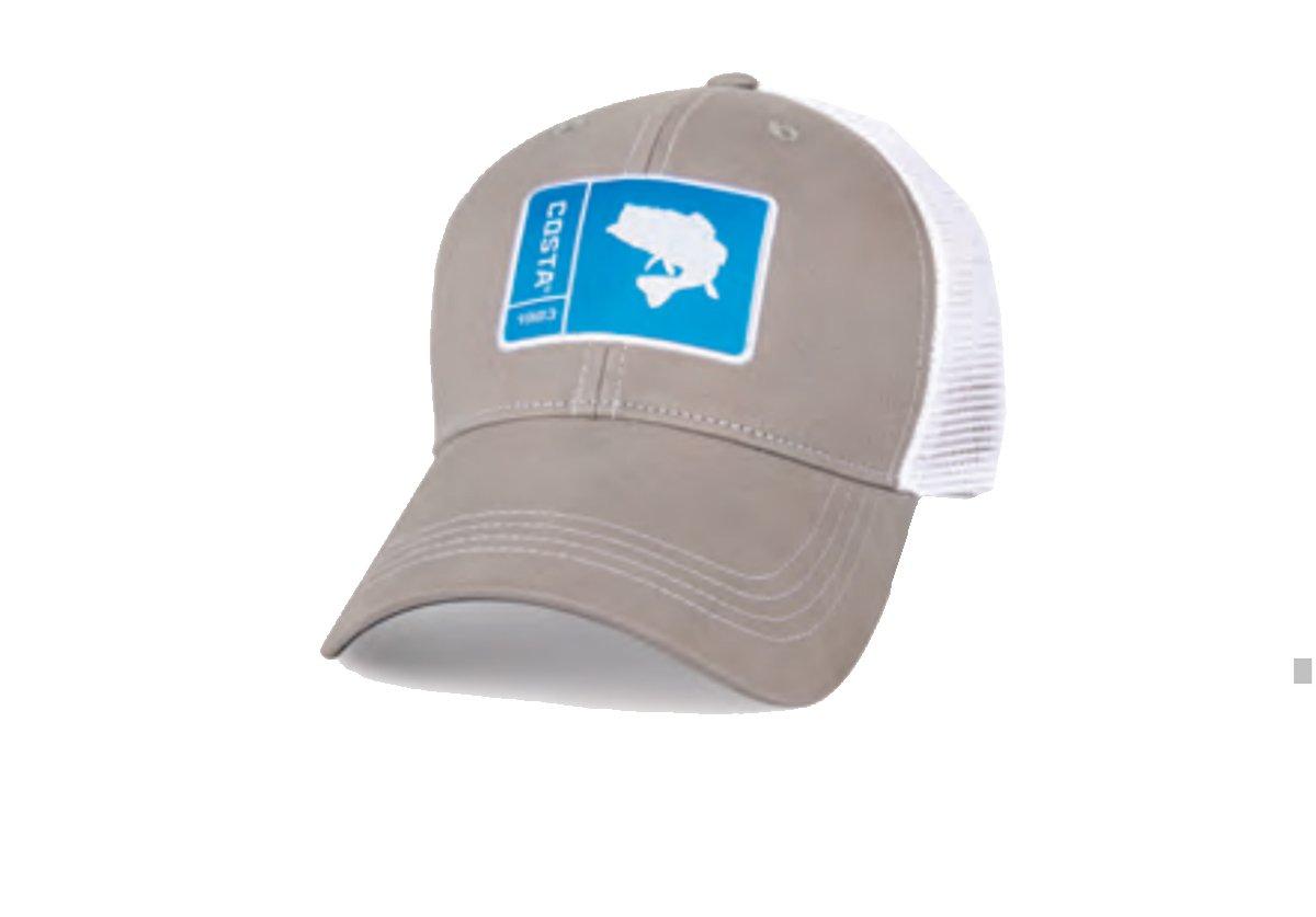 Costa Del Mar Original Patch Bass Trucker Hat-Grey by Costa Del Mar