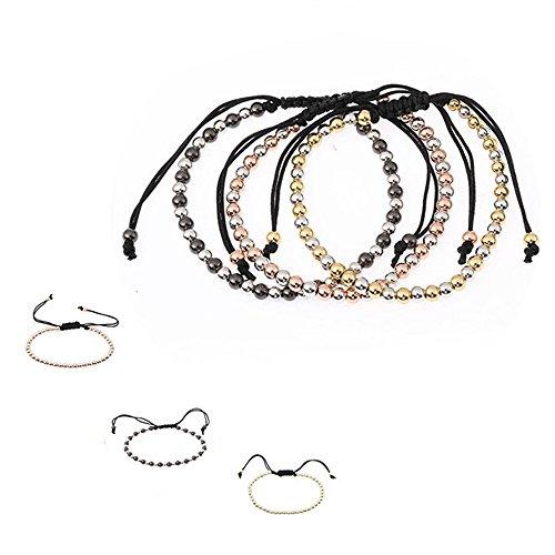 OWEGAI-80 Bracelet Elegant Sliver Pearl Bead Handmade Chain Bangle Bracelet Jewelry