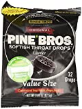 Pine Bros Cough Drops, Licorice, 32 Count (Pack of 72)