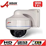 Anran 1200tvl CCTV Dome Surveillance Camera Sony Cmos Sensor High Resolution 30ir Leds Color Day Night Vision Infrared Security Waterproof Zoom Lens 2.8-12mm for Home Video System
