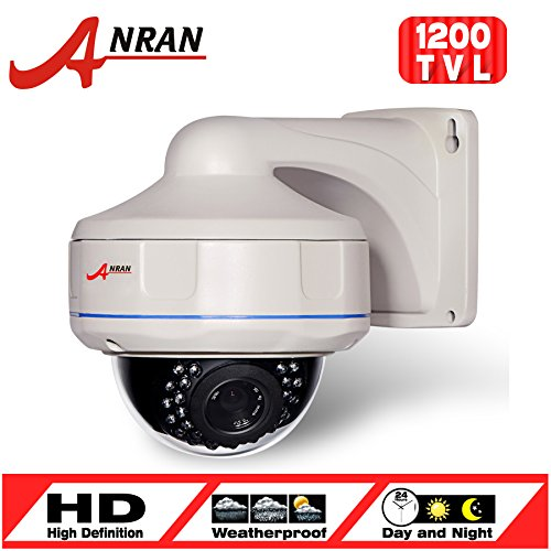 Anran 1200tvl CCTV Dome Surveillance Camera Sony Cmos Sensor High Resolution 30ir Leds Color Day Night Vision Infrared Security Waterproof Zoom Lens 2.8-12mm for Home Video System (Pan Tilt Zoom)