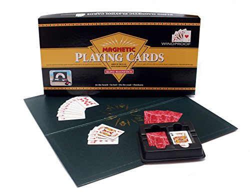Magnetic Card Game - New Edition Kling Magnetic Playing Cards with Red Deck