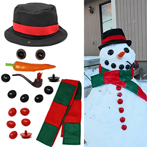 Joyin Toy Snowman Kit Build Your Own Snowman Kids First Snowman Decorating Kit
