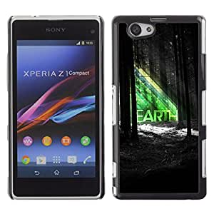 CaseLord Carcasa Funda Case - Sony Xperia Z1 Compact / Beautiful EARTH Forrest Illustration /