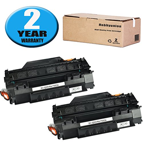(Compatible Q5949A (49A) Toner Cartridge 2 Pack Black by Hobbyunion for LaserJet 1320 1320N 1320NW 1320T 1320TN 1160 1160 1160LE 3390 3392)