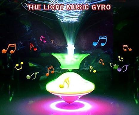 UChic 1 pieza de corona Gyro brillante con luz LED y música con ...