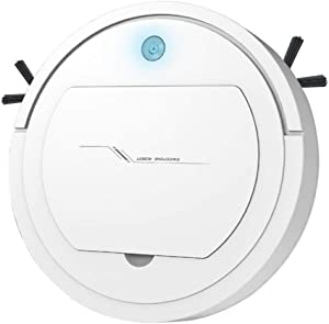 Automatic Smart Robot Vacuum Cleaner, Rechargeable Robotic Sweeper Edge Cleaning Strong Suction Sweeper (White) (White)