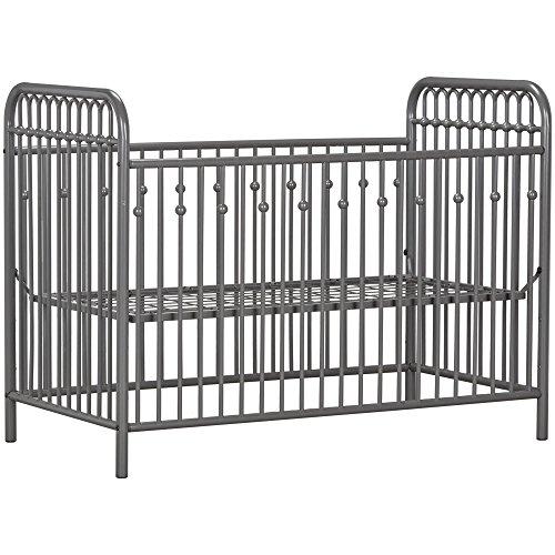 51Qg2XMi bL - Little Seeds Monarch Hill Ivy Metal Crib, Gray