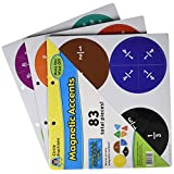 Teacher Created Resources Fraction Circles Magnetic Accents (77244)