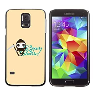 Licase Hard Protective Case Skin Cover for Samsung Galaxy S5 - Funny & Cool Ripper Design