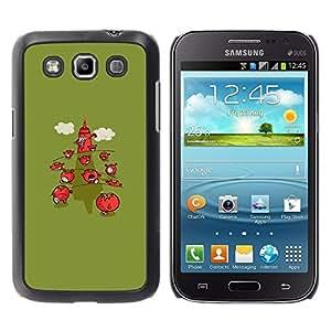 Be Good Phone Accessory // Dura Cáscara cubierta Protectora Caso Carcasa Funda de Protección para Samsung Galaxy Win I8550 I8552 Grand Quattro // Minimalist Strawberry Green Cartoon