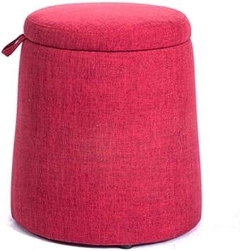 Amazon Com Klsjj Foldable Storage Ottoman Round Cube Coffee Table