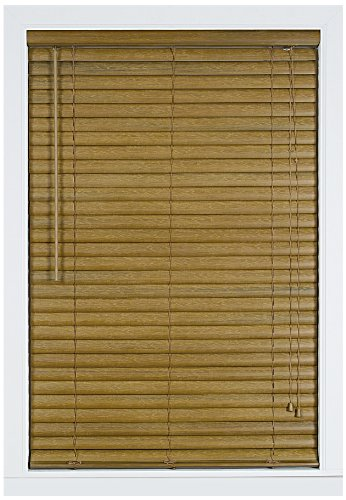 Achim Home Furnishings Luna 2-Inch Vinyl Blind, 33-Inch by 64-Inch, Woodtone