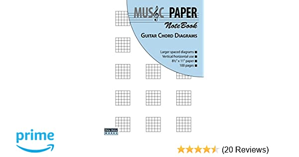 Amazon.com: MUSIC PAPER NoteBook - Guitar Chord Diagrams ...
