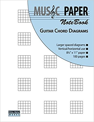 Amazon.com: MUSIC PAPER NoteBook - Guitar Chord Diagrams ...