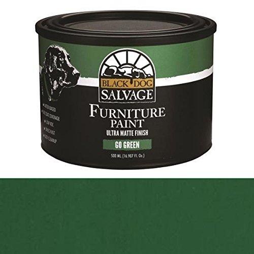 (Black Dog Salvage Go Green (Green) Furniture Paint, 500ml)