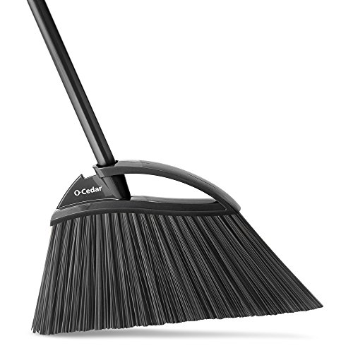 O-Cedar Angle Broom 159833 Outdoor Power Angle Broom, Assorted Colors