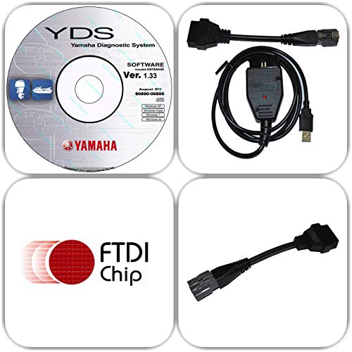 moto-solution Yamaha YDS Boat Marine Diagnostic USB Cable Kit for Outboard/WaveRunner/Jet Boat ()