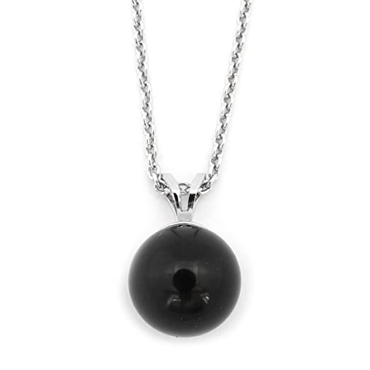 Amazon sterling silver 5mm black onyx pendant necklace pendant sterling silver 5mm black onyx pendant necklace pendant only aloadofball Images