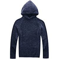 Vcansion Men's Mock Neck Chenille Pullover Sweater or Hoodie