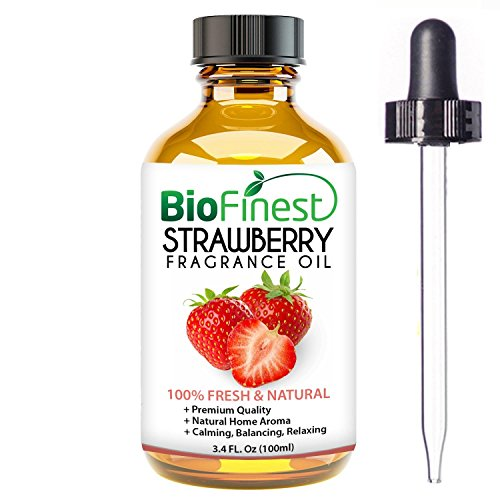 Strawberry Home Fragrance - BioFinest Strawberry Fragrance Oil - 100% Pure & Natural - Fresh Home Scent - Air Refresher - Relaxing Aromatherapy - Skin and Hair Care - FREE E-Book and Dropper (100ml)