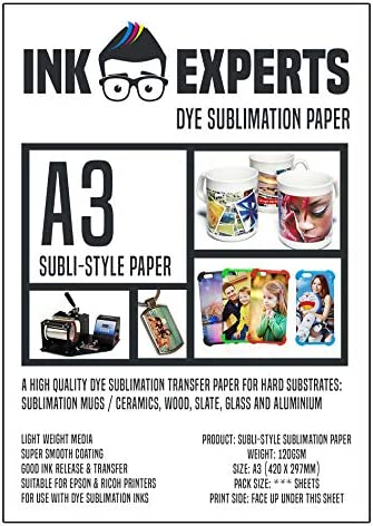 Ink Experts Sublimationspapier A3 120 g/m² 50 Sheets