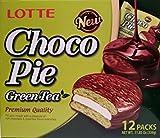 choco pie green tea - Lotte Choco pie Green Tea 12 individual pack