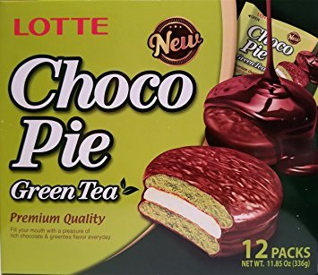 - Lotte Choco pie Green Tea 12 individual pack