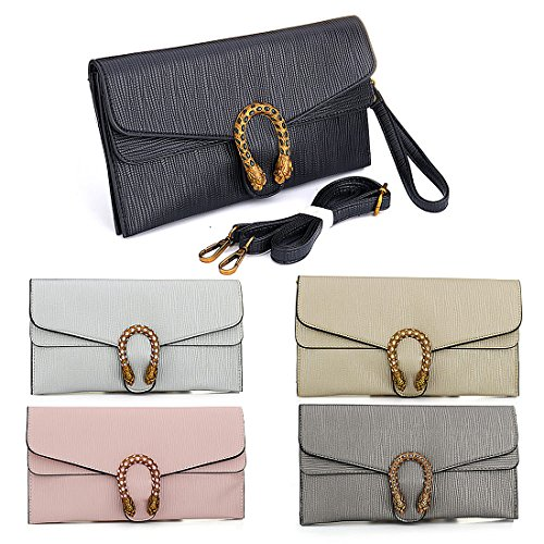 Crossbody Phone Card Handbag Wallets Pink Purses Women Slots Clutch Bag Leather with aEqBw7A