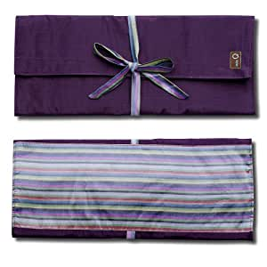 della Q Combo Knitting Case for Straight & Double Point & Circular Knitting Needles; 018 Purple Stripes 101-1-018