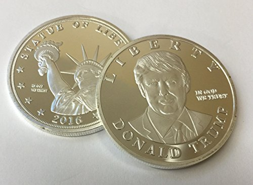 Donald Trump US Presidential Candidate & Statue of Liberty Silver Plated Commemorative Token