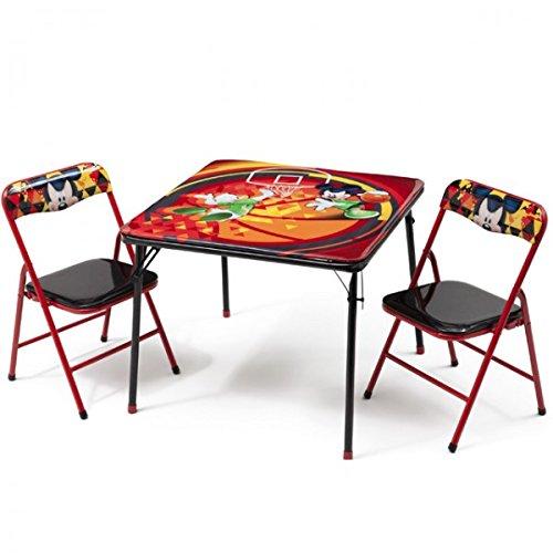 Disney Mickey Mouse Kindersitzgruppe Sitzgruppe Klapptisch Klappstuhl KIndermö bel Tisch + 2 Stü hle NEU Delta Children' s Products