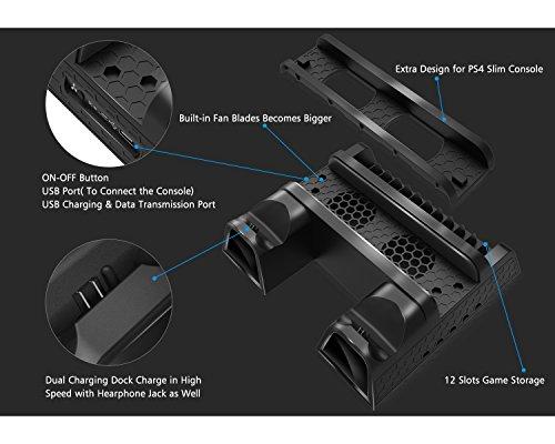 Dobe Ps4 Slim Pro Cooler Multi Functional Cooling Vertical