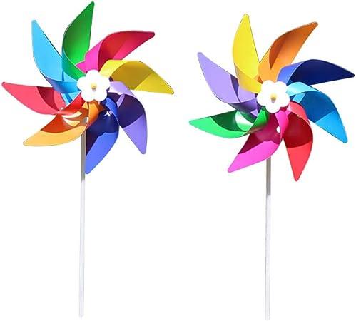 Brucelin - Molinillo de viento de juguetes, para jardín, hecho a mano 1: Amazon.es: Hogar