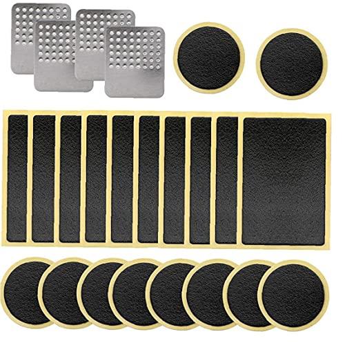 Fietsband Reparatieset, Pre-gelijmd Patch Reparatieset Lijmloze Zelfklevende Fietsband Patch Met Metalen Hoefraspen…