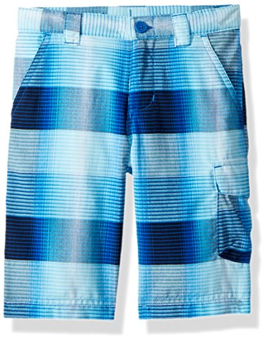 Columbia Boys Silver Ridge Printed Shorts, Super Blue Plaid, XX-Small by Columbia