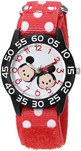 Disney Boy's 'Mickey Mouse' Quartz Plastic and Nylon Watch, Color:Red (Model: W003003)