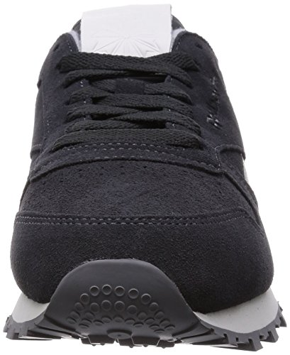 Reebok Herren Classic Leather Suede Sneakers Black (Gravel/Darkest Olive/White/Black/Shark)
