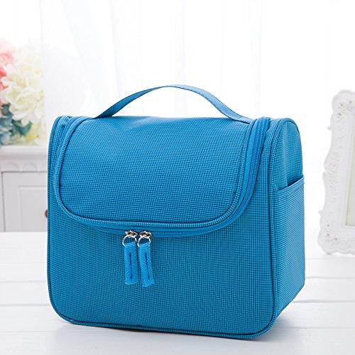 LULANDie Travel Kulturtasche klein Zulassung Paket weiblichen portable outdoor Reisetasche hängende große Kosmetiktasche, 23 * 10 * 19 cm, blau