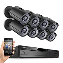 Amcrest 4CH Plug & Play H.265 6MP NVR 3MP 1536P Security Camera System, (4) x 3-Megapixel 2.8mm Wide Angle Lens Weatherproof Metal Bullet PoE IP Cameras, 98 Feet Night Vision (Black)