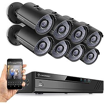 Amazon Com Amcrest 8ch Plug Amp Play H 265 6mp Nvr 3mp