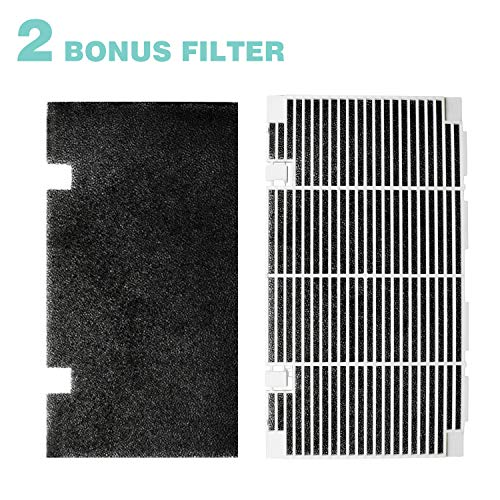 "Seven Sparta RV A/C Ducted Duo-Therm Air Grille for Dometic 3104928.019, Replace Air Conditioner Grill with 2 Filter Pad, 14.1"" x 7.7"" Polar White"