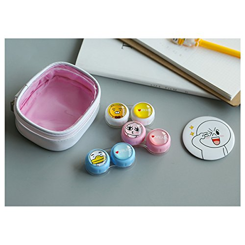 Contact Lens Case with Mirror Contact Lens Case Travel Kit Cute Contact Lense Case Cute Contact Lens Case 3 Pack by Sunflower Innovative Store (Image #4)