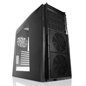 Nzxt Technologies 3 x 120 mm USB 3.0 Tempest 410 Elite Steel Mid Tower Airflow Case with Clean Side Panel - T410E-001 (Black)