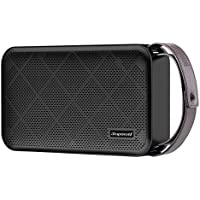 Simpowel V10 - Bluetooth Speaker 20W Portable Wireless Speaker with Deep Bass, DSP and Build-in Micro SD Slot - Black