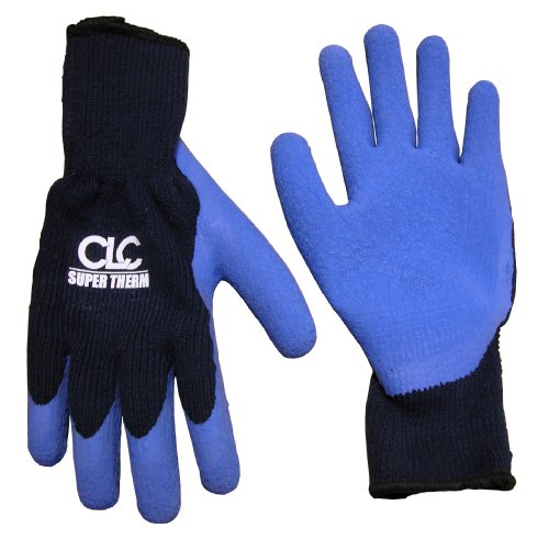 CLC Custom Leathercraft 2032M Super Thermo Lined Latex Gripper Gloves, (Latex Gripper Gloves)