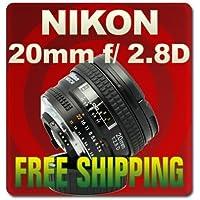 Nikon AF FX NIKKOR 20mm f/2.8D Fixed Zoom Lens with Auto Focus for Nikon DSLR Cameras International Version (No warranty)