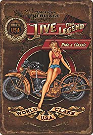 Rivers Edge Products Live The Legend Tin Sign, 16-Inch
