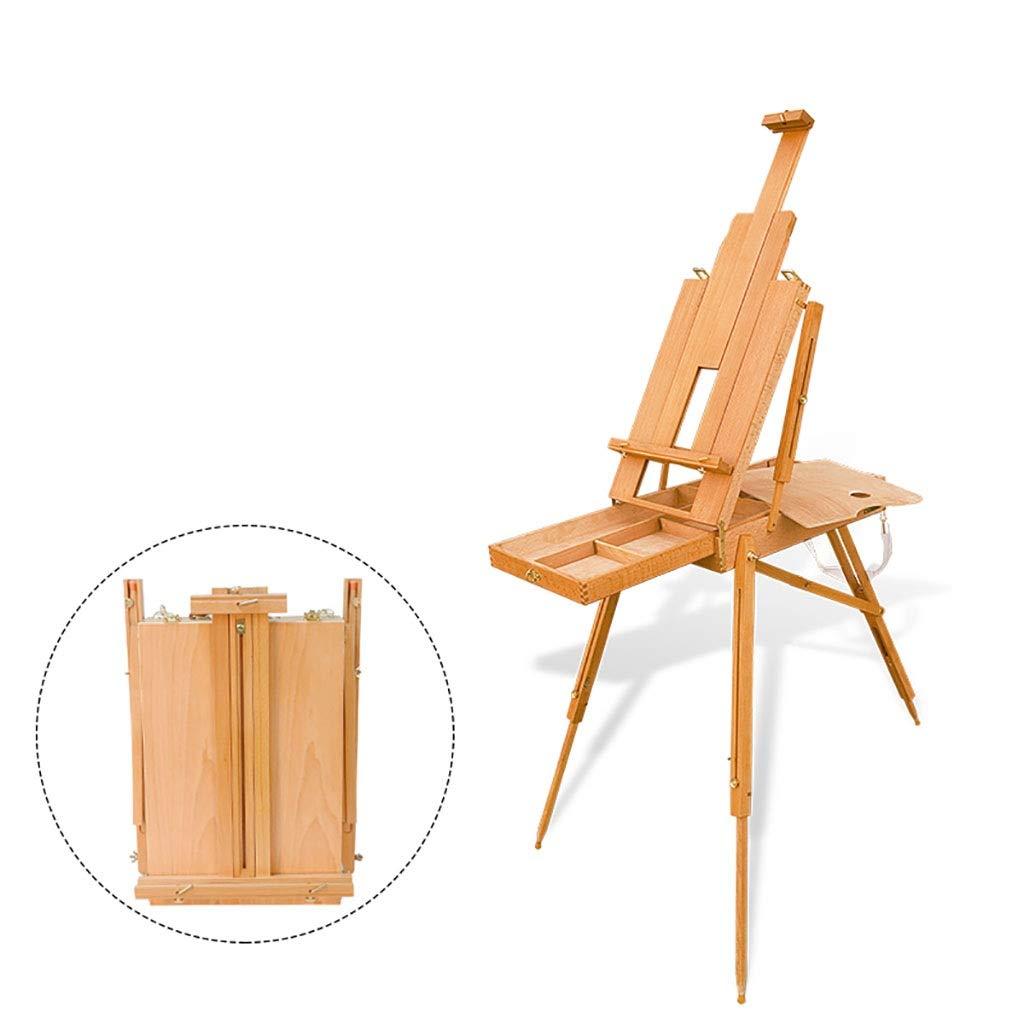 イーゼルアート 折りたたみ多機能調節可能イーゼル、ブナの木の手描きのイーゼル、3.8kgスケッチイーゼルイーゼル   B07QG2LW31